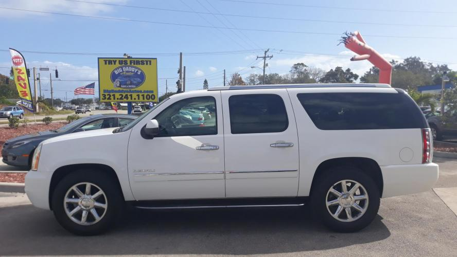 2013 White GMC Yukon Denali XL 4WD (1GKS2MEF8DR) with an 6.2L V8 OHV 16V engine, Automatic transmission, located at 1181 Aurora Rd, Melbourne, FL, 32935, (321) 241-1100, 28.132914, -80.639175 - Photo #0