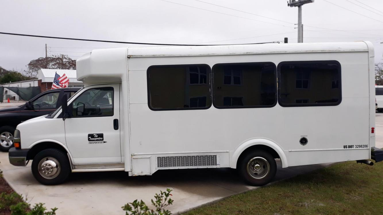 2014 White Chevrolet Express G4500 (1GB6G5BG3E1) with an 6.0L V8 OHV 16V FFV engine, Automatic transmission, located at 1181 Aurora Rd, Melbourne, FL, 32935, (321) 241-1100, 28.132914, -80.639175 - Photo #0