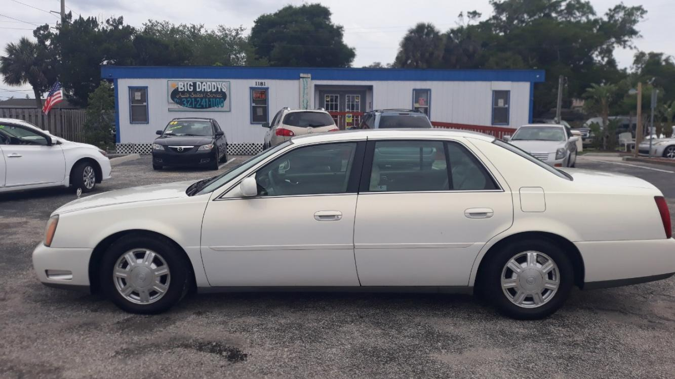 2004 White Cadillac Deville Sedan (1G6KD54Y64U) with an 4.6L V8 DOHC 32V engine, Automatic Overdrive transmission, located at 1181 Aurora Rd, Melbourne, FL, 32935, (321) 241-1100, 28.132914, -80.639175 - Photo #0