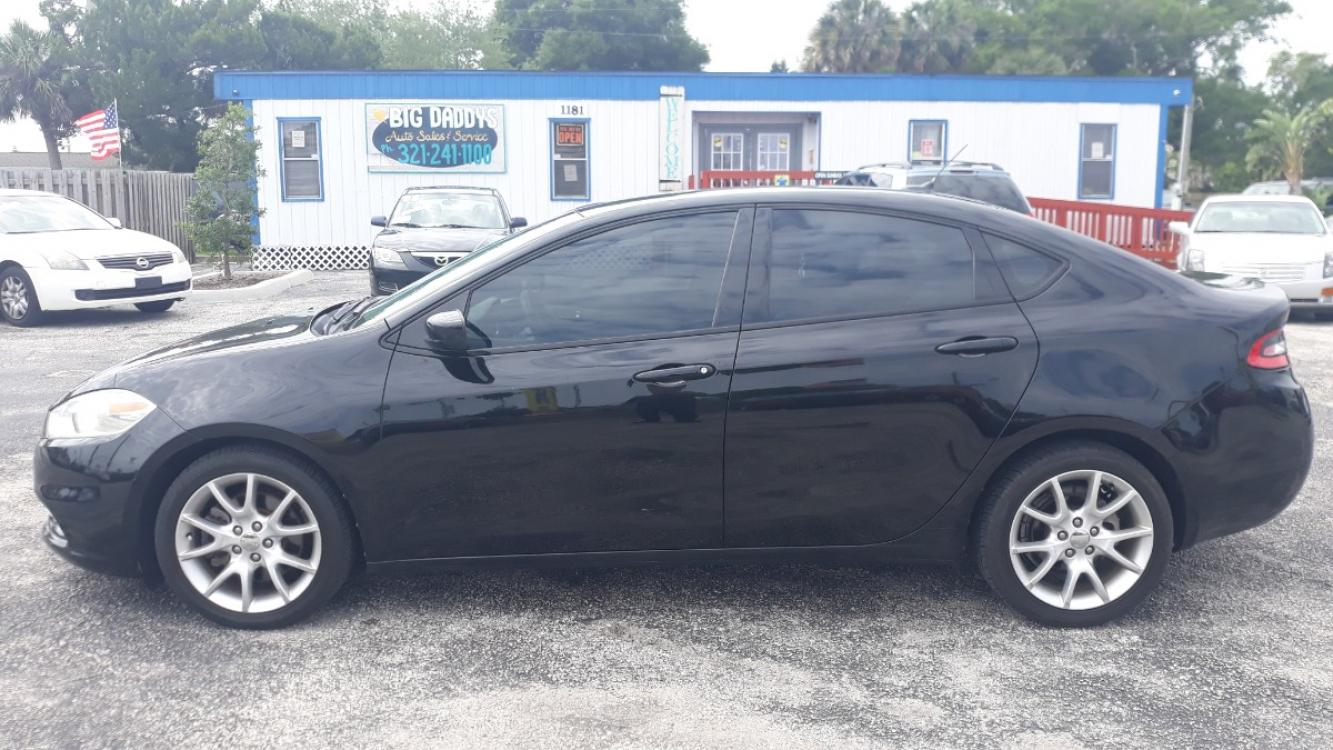 2013 Black Dodge Dart SXT (1C3CDFBA7DD) with an 2.0L L4 DOHC 16V TURBO engine, Automatic transmission, located at 1181 Aurora Rd, Melbourne, FL, 32935, (321) 241-1100, 28.132914, -80.639175 - Photo #0