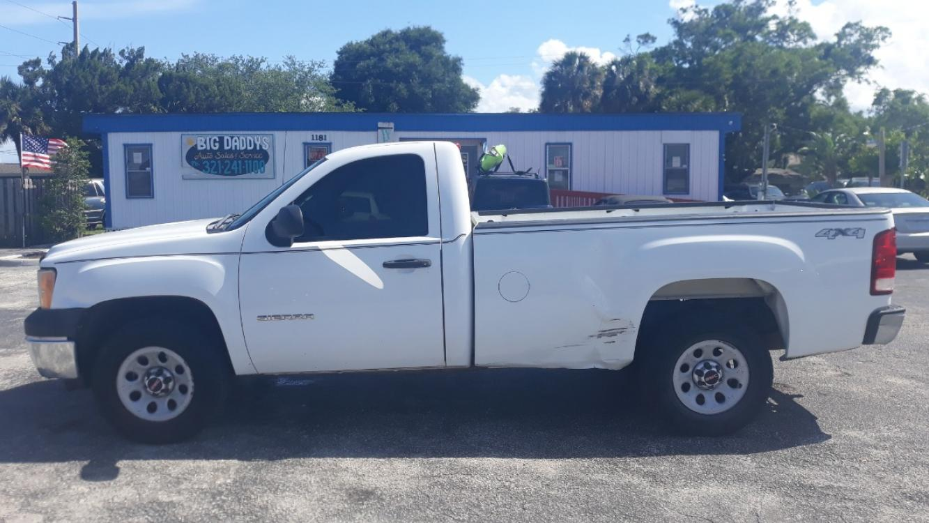 2011 White GMC Sierra 1500 Work Truck 4WD (1GTN2TEX3BZ) with an 4.3L V6 OHV 12V engine, Automatic transmission, located at 1181 Aurora Rd, Melbourne, FL, 32935, (321) 241-1100, 28.132914, -80.639175 - Photo #0